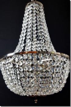 moderner design kristall kronleuchter drei flammig messing matt von. Black Bedroom Furniture Sets. Home Design Ideas