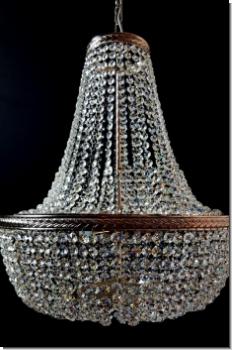KSI40   Design Crystal Luster Ceiling Chandelier , Chrom, Brass 40 Cm