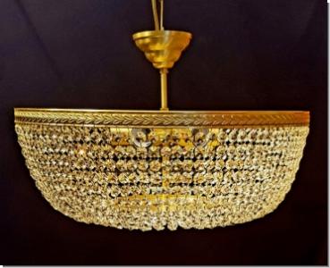 Plafoniere Messing : Moderner design kristall deckenleuchter drei flammig messing
