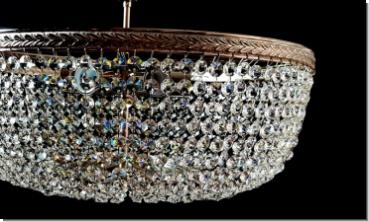 Plafoniere Design : Modern design crystal ceiling luster three lights brass matt by