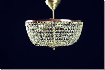 Plafoniere Kristall Antik : Moderner design kristall deckenleuchter drei flammig messing