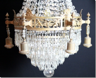 Modern design crystal ceiling luster six lights modern design a33 exclusive single piece chandelier basket chandelier brass bronze with high quality lead crystal chandeliers aloadofball Image collections