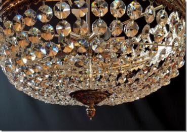 Plafoniere Messing : Klassischer design kristall deckenlüster sechs flammig messing