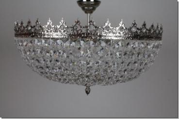 Design Kristall Kronleuchter Lüster Plafonnier Lampe Messing 1+245