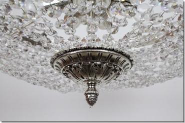 Modern design crystal ceiling chandelier chrome or 24k for Kristall lampe