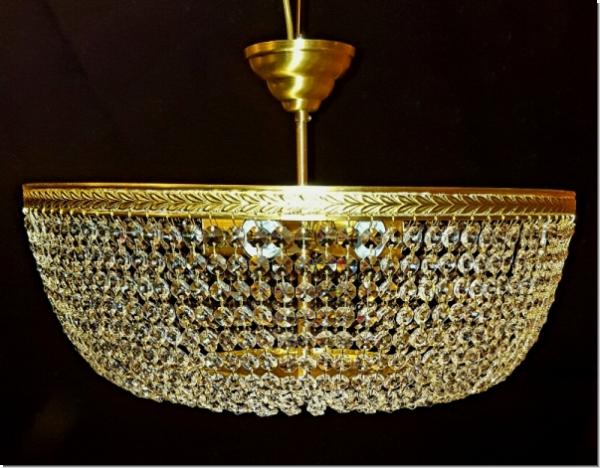 Moderner Design Kristall Deckenleuchter - drei flammig - Messing ...
