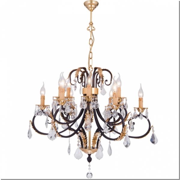 Modern Design Crystal Ceiling Luster Six Lights Modern Design