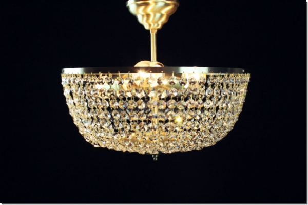 Plafoniere Deckenleuchte : Moderner design kristall deckenleuchter drei flammig messing