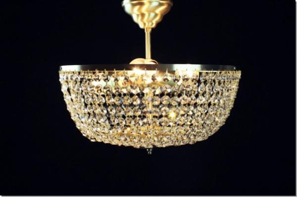 Plafoniere Moderne Di Design : Moderner design kristall deckenleuchter drei flammig messing