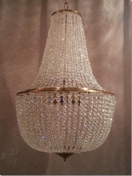 design kristall kronleuchter deckenl ster lampe messing luxus 1 12. Black Bedroom Furniture Sets. Home Design Ideas