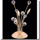 A1157 - Table Lamp with Crystal balls, 24 K. Gold plated