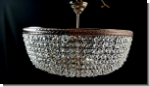 PSI40 - Plafoniere  Design crystal ceiling chandelier brass  lighting 40 cm