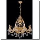 A 1014 - two-stage royal chandelier/ gold(24 carat)-plated brass