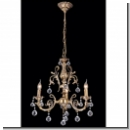 A1015 - Ornate Chandelier with crystal balls/Antique colors /brass