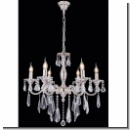 A1021 - Chandelier 6 armed with crystal silver plated brass