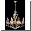 A1026 - pompous royal chandelier/ gold (24 carat) plated brass