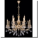 A1030 - 12- armed royal chandelier/ gold (24 carat) plated brass