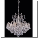 A1107 - Luxus Chandelier, 2 armed with Platinum brass