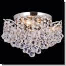A1113 - The Chandelier with crystal hangings ball brass - Colour: Nickel