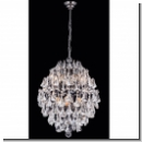 A1133 - Modern crystal chandeliers, chandeliers with crystal hangings, brass - Color: Platin