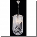 A1139 - Modern Chandelier with crystal hangings, made of brass - Color: chrome