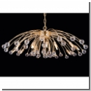 A 1155 - Modern Design chandelier with crystal with crystal balls, 24 K. gold plated