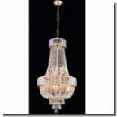 A1257 – royal basket chandelier with crystals - gold (24 carat) - plated brass