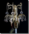 A 46 Wall chandelier, wall applike from brass 24 carats gilds with high-yuality lead glass, cover candlestick, chandlier, 2-armed