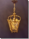 SG109 - Latern lamp, chandelier, Latern Light from brass, light with decorations of glass