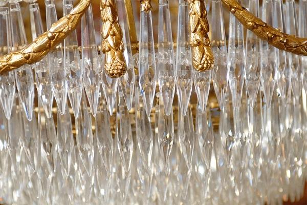 Plafoniere Kristall : Alte kristall plafoniere gold messing kronleuchter barock stil in